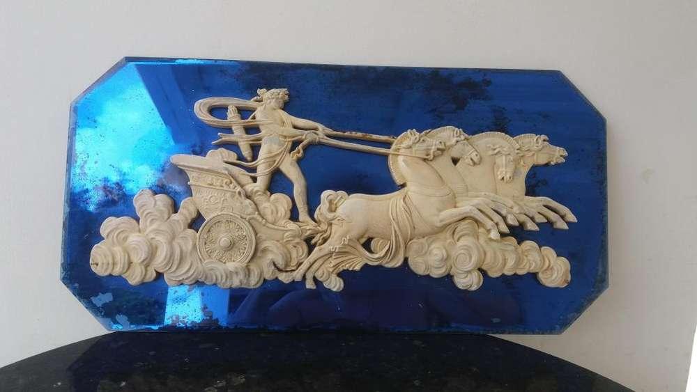 Espejo azul estilo imperio
