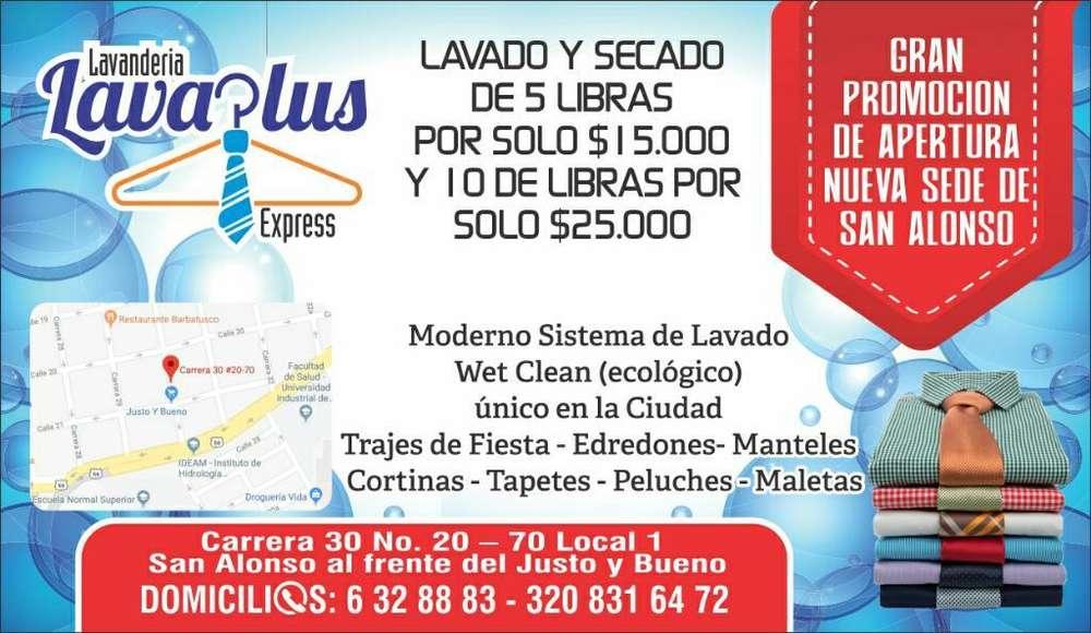 Lavandería Lavaplus Xpress Lavado X Libr