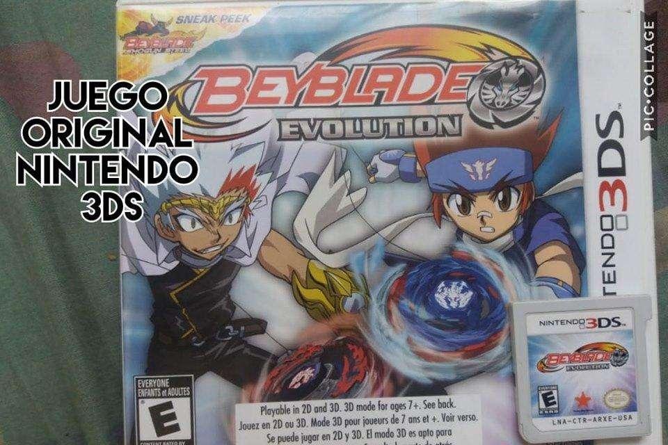 juego original nintendo 3ds beyblade evolution