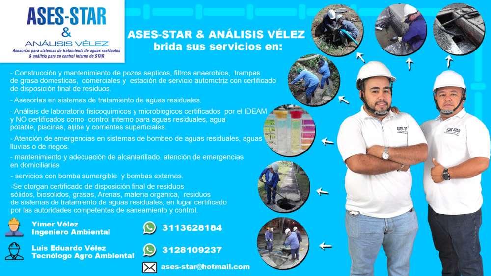limpieza de pozos septicos, fosas septicas, sistemas de tratamiento de aguas residuales