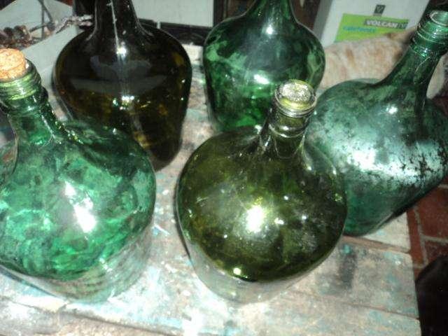 dama juanas de 5 litros antiguas de vidrio
