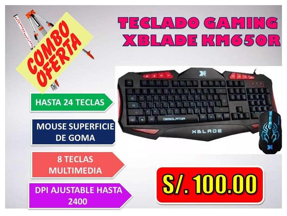 TECLADO GAMING XBLADE KM650R