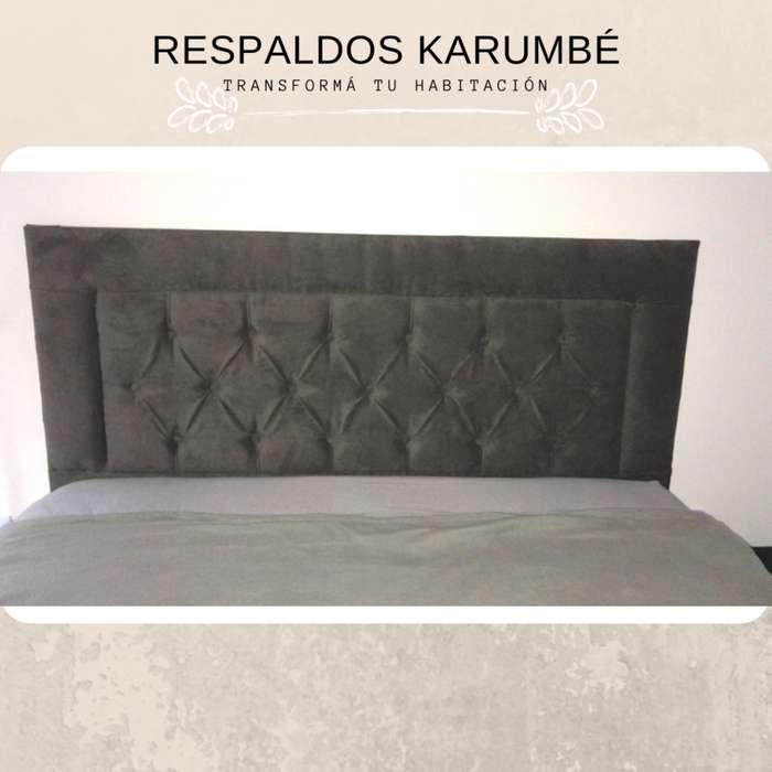Respaldos de cama tapizados