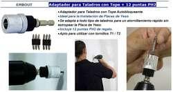 Adaptador Para Taladros Durlock Puntas Philips Ph2 Drywall
