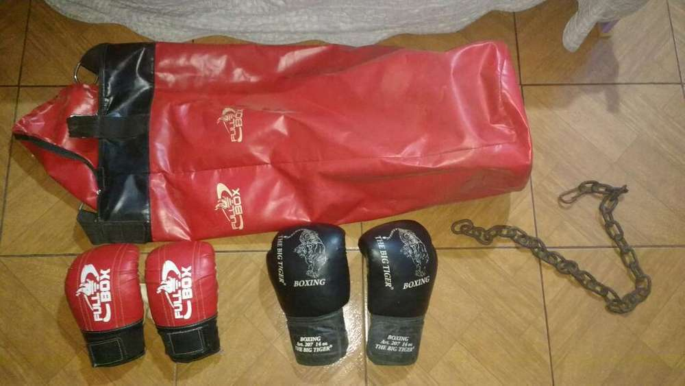 Vendo Guantes Y Bolsa de Boxeo