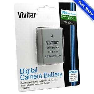 Bateria, Pila Vivitar En El14a Para Nikon D3200 D3300 D5300