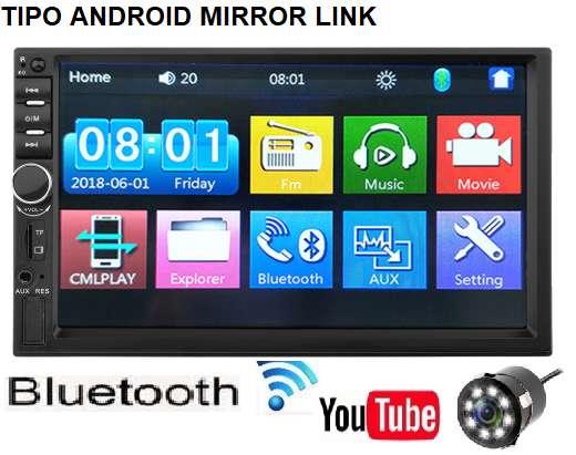 RADIO PARA CARRO CON PANTALLA 7 BLUETOOTH USB MIRROR LINK NUEVO LA MEJOR CALIDAD DOBLE DIM