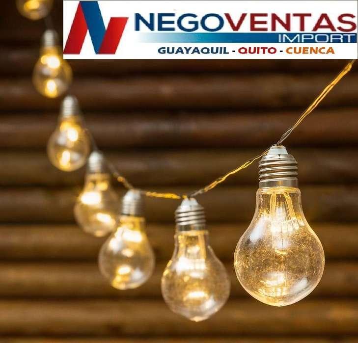 FOCOS GUIRNALDAS LUCES LED TIPO BOMBILLO PARA <strong>decoracion</strong>