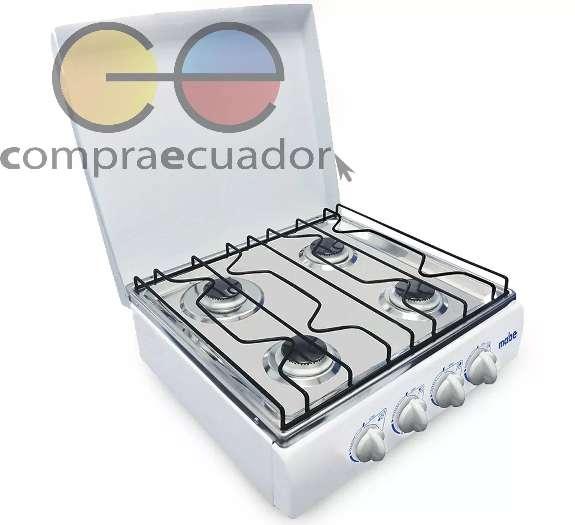 Mabe Cocineta 4 Quemadores A Gas Color Blanco Diseño Compact