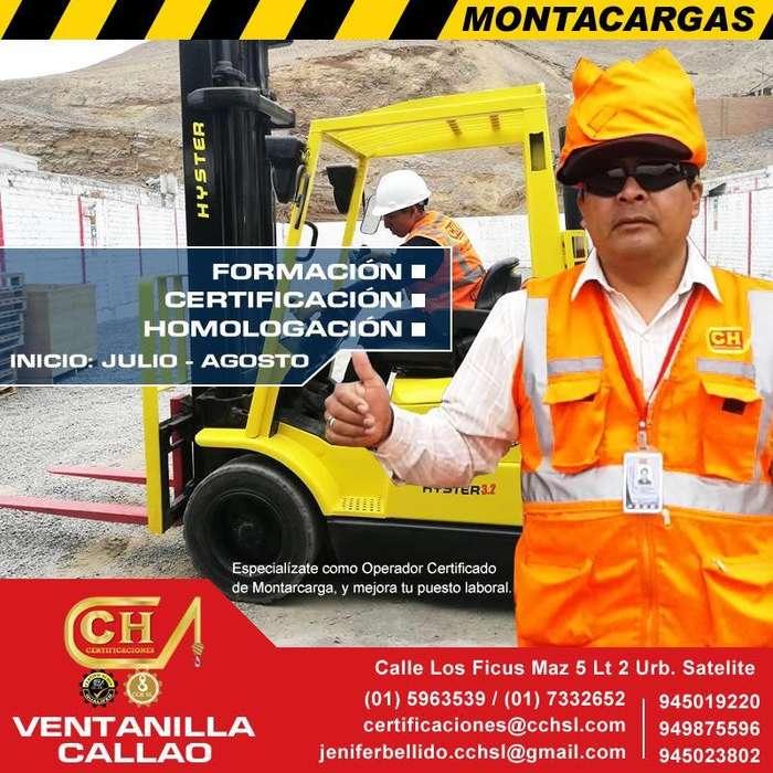 CURSOS OPERADORES DE MONTACARGAS, APILADOR, RIGGER, CAPACITACION, CERTIFICACION Y HOMOLOGACION