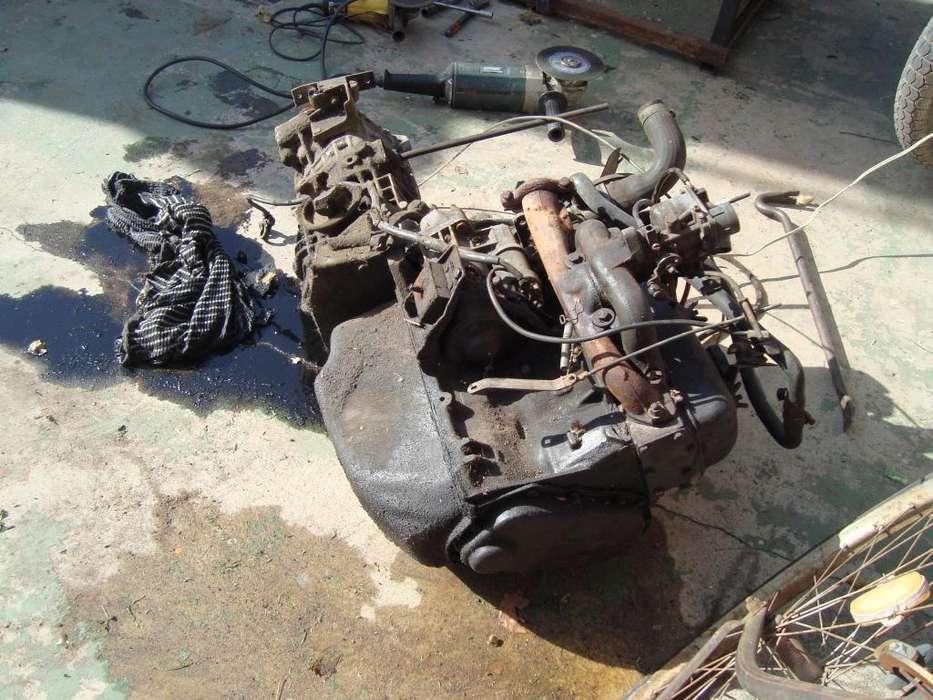 motor y caja completo renault 6