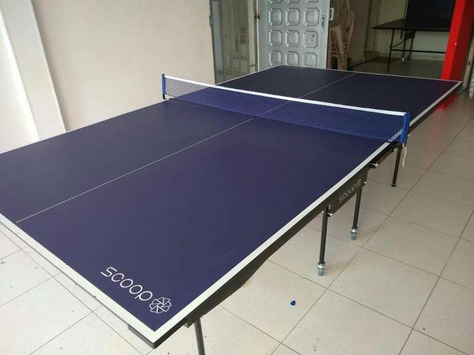 Mesa de Ping Pong Scoop con Accesorios