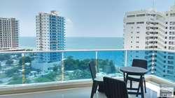 Amplio apartamento de 3 alcobas con vista al mar, Playa Salguero