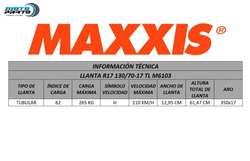 Llanta Maxxis Motocicleta R17 130/70/17 Pista M6103