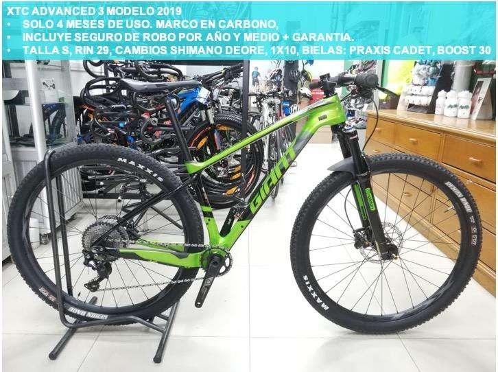 Bicicleta Giant Carbono XTC Advanced 3 2019 Talla S Rin 29
