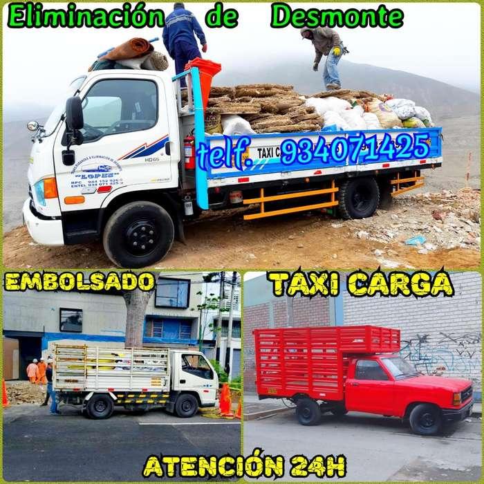 ELIMINACIÓN DESMONTE RECOJO DE MALEZAS Y MUDANZAS, CARGAS A PROVINCIAS & TAXI CARGA LAS 24H PRECIO BARATO