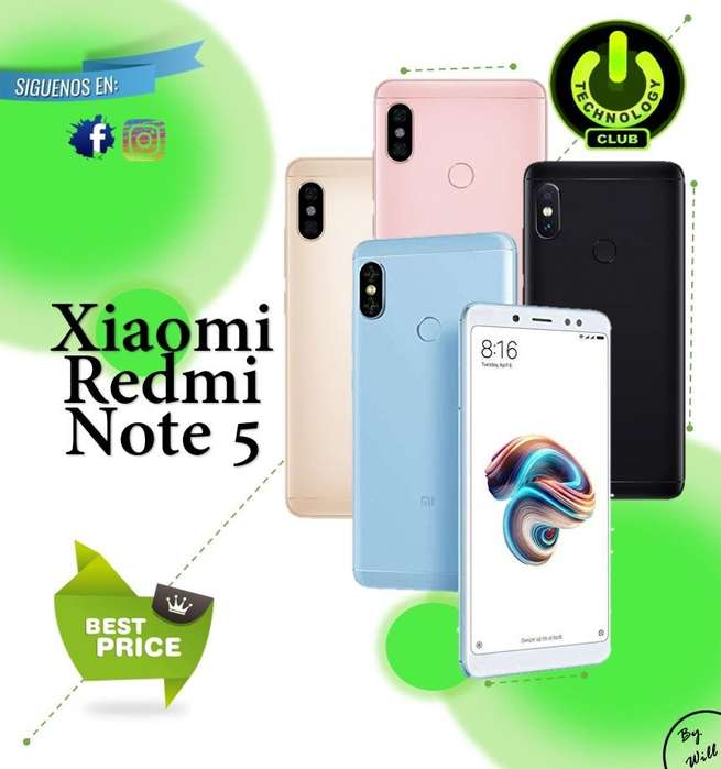 Redmi Note 5 Xiaomi 4000 mAh bateria Celulares sellados Garantia 12 meses