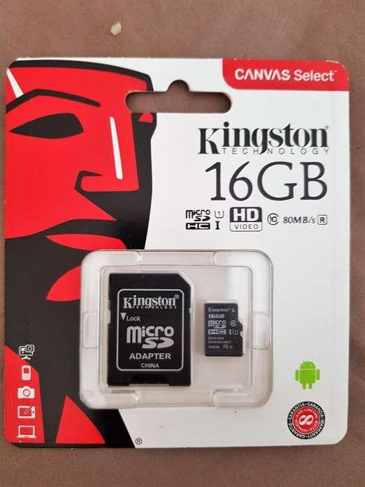 MEMORIAS KINGSTON 16 GB SD CLASE 10 ORIGINALES, ZONA BELGRANO