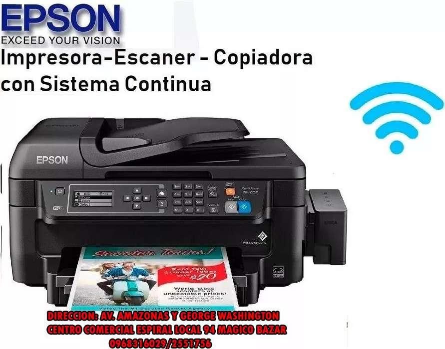 IMPRESORA EPSON WF 2750 C/SISTEMA DE TINTA <strong>wifi</strong> DUPLEX ADF