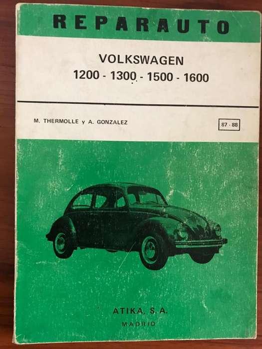 Manual Volkswagen de Reparación - Original VW1200 - 1300 - 1500 - 1600 de 1972 - Original