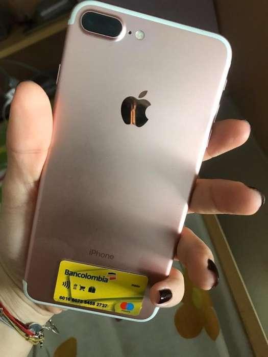 Vendo iPhone 7plus 32gb con todo caja audfonos cargador