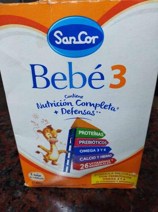 Sancor Bebe 3 Una Caja de Leche