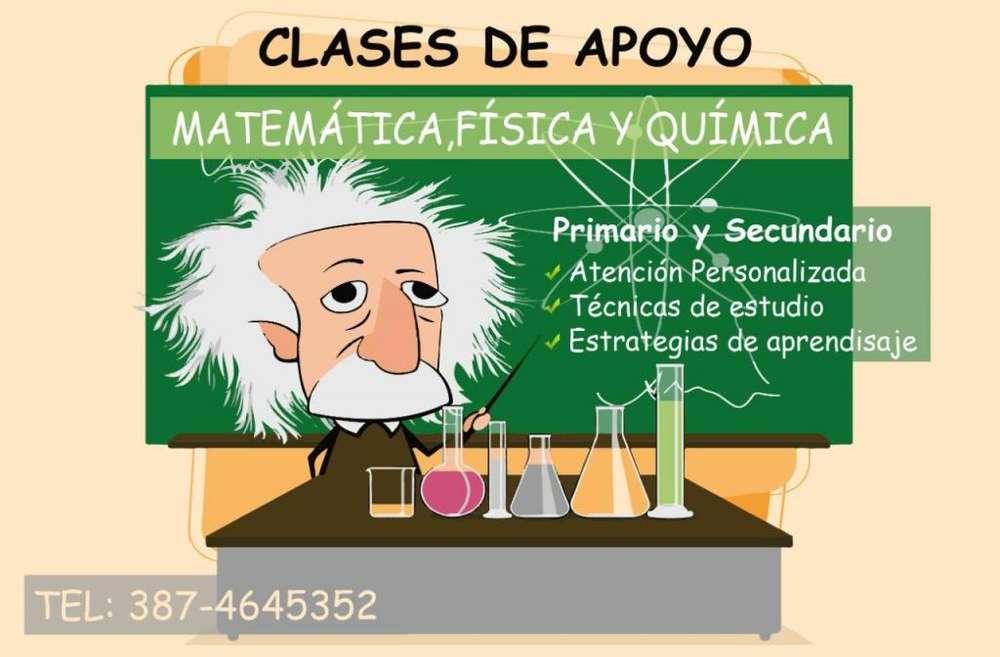 CLASES de Matemática, física, química y apoyo Escolar