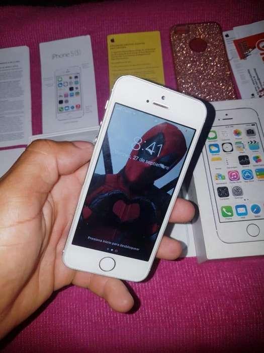 Apple iPhone 5S Silver 16Gb Vendo Cambio