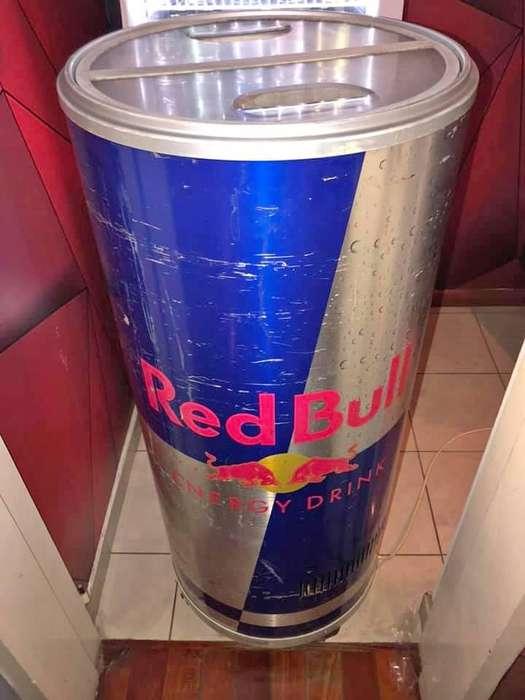 Heladera Red Bull Redonda