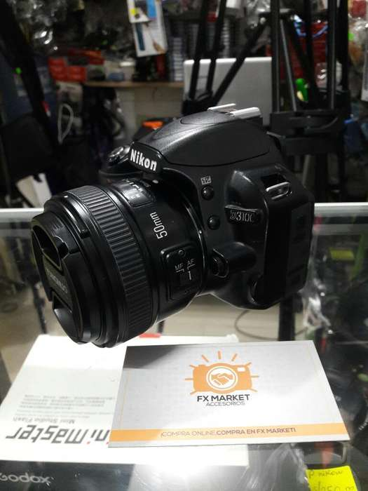 Nikon D3100 Yn50mm 1.8 Estuche