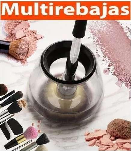 Recipiente y Maquina Limpiadora De Brochas De <strong>maquillaje</strong> Pincel Limpieza Al Instante