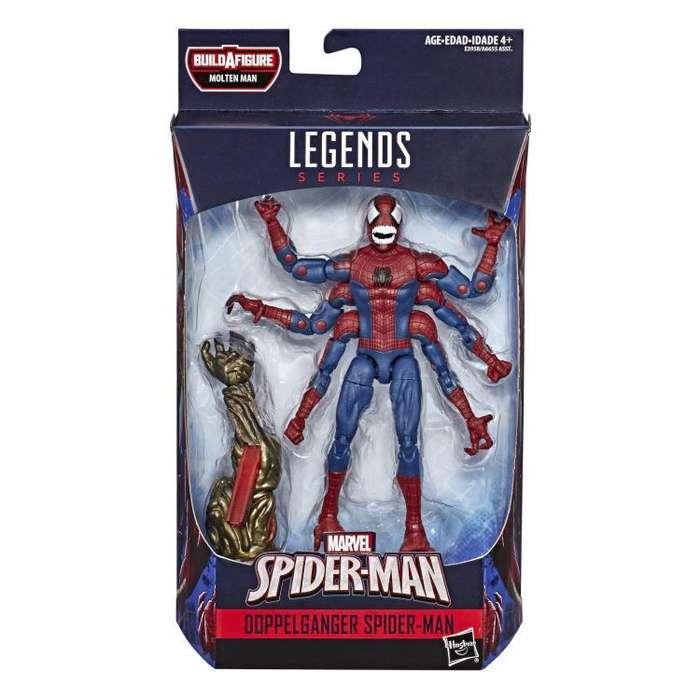 Figura Marvel Legends - Doppelganger Spiderman (Baf Molten Man)