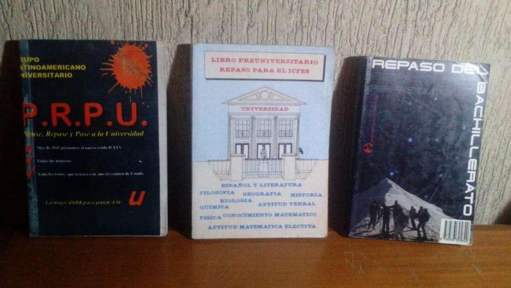 LIBROS P.R.P.U PIENSE, REPASE, Y PASE A LA UNIVERSIDAD, LIBRO PREUNIVERSITARIO, REPASO DEL BACHILLERATO.