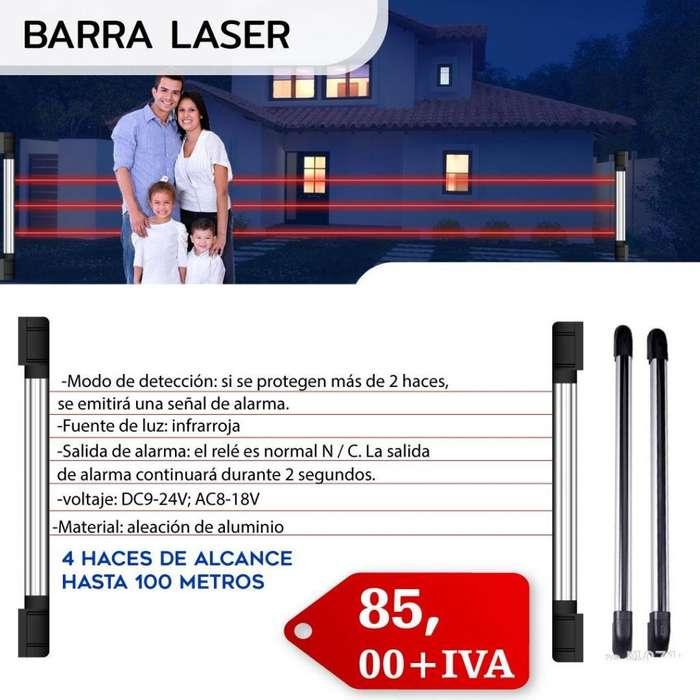 BARRA LASER 4 HACES DE ALCANCE 100METROS/ FOTOBEAM /SEGURIDAD PERIMETRAL/SISTEMA LASER