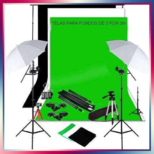 Pro <strong>estudio</strong> Fotográfico 3 Fondos de 3x3m Estructura de 3x2m y más