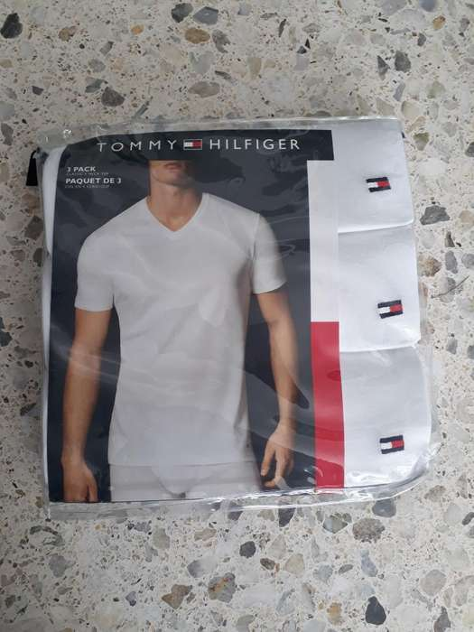 Camiseta Tommy Hilfiger Blanca X3 -s-