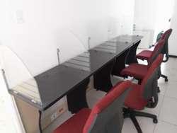 ESCRITORIOS PARA CALL CENTER RECEPCIONES E INTERNET