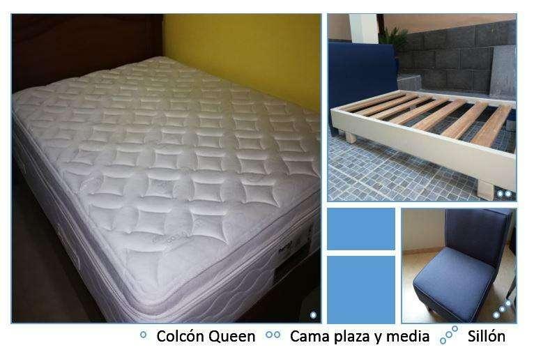 Colchón Queen Cama Plaza Y Media, Sillón