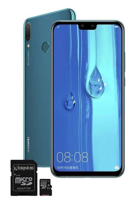 Huawei Y9 azul Tarjeta micro SD Kingston