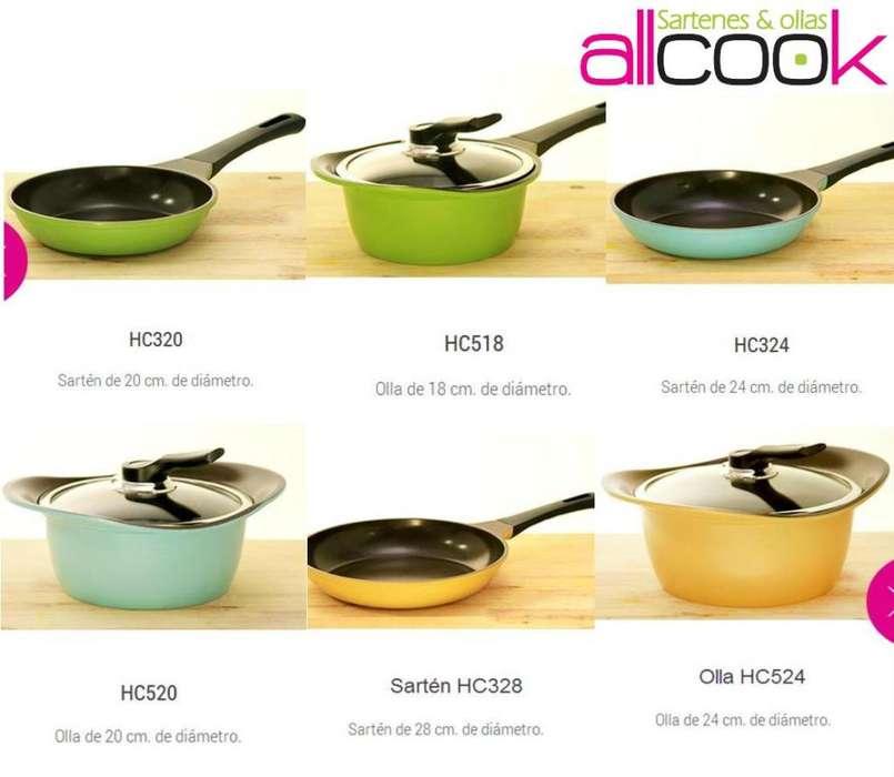 Set de ollas y sarténes de cerámica 9 piezas Allcook Hecho en Corea