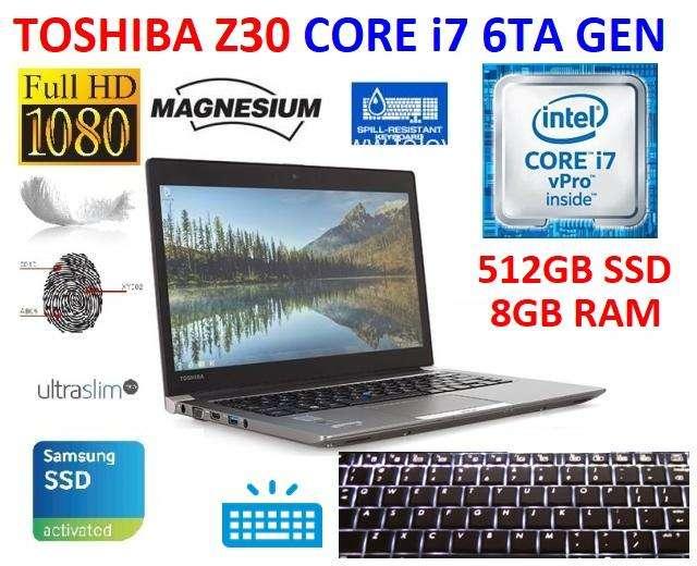 toshiba portege z30 core i7 6ta gen, 512gb ssd, 8gb ram, autocad, revit, dell, asus, hp, lenovo