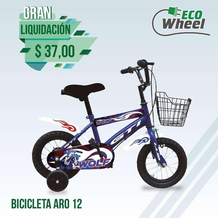 Bicicleta Gti Aro 12 Con Canasta !niño Y Niña!!