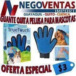 GUANTE QUITA PELUSA PARA MASCOTAS OFERTA 3,00