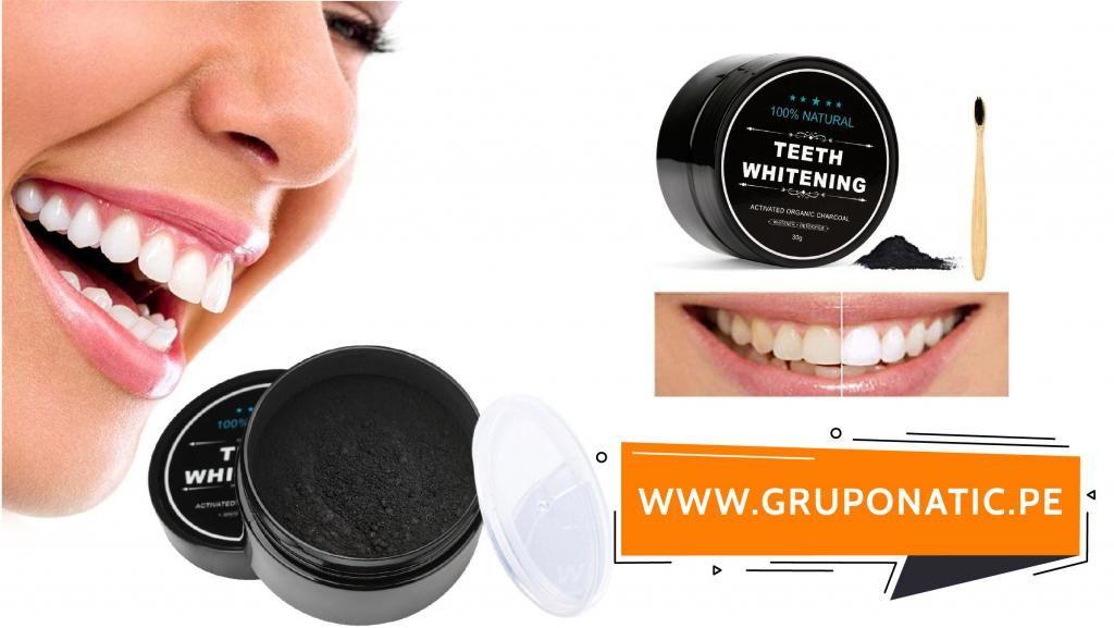 Blanqueador Dental Carbon Activado 30 Gramos Gruponatic San Miguel Surquillo Independencia La Molina Whatsapp 941439370