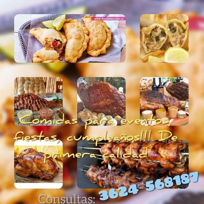 Catering/comidas para Eventos,fiestas,et
