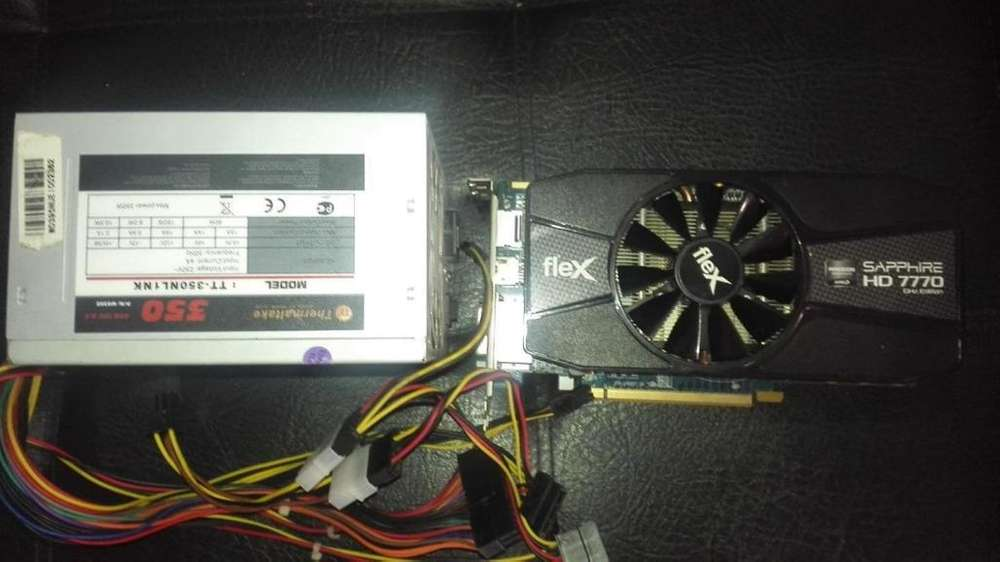 TARJETA GRAFICA HD 7770 1GB DDR5 Y FUENTE REAL THERMALTAKE 350W