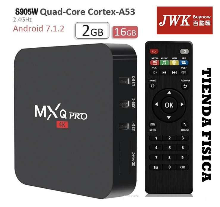 Android Tv Box Mxq Pro 4k S905w 2gb Ram Jwk