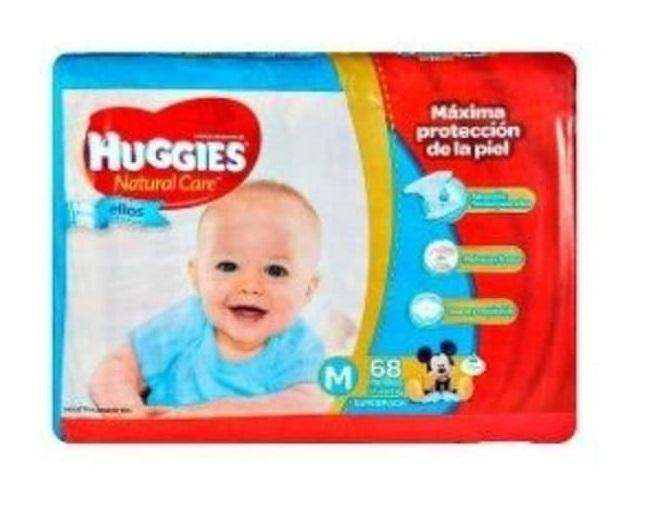 Huggies natural care TALLE M x 68 pañales