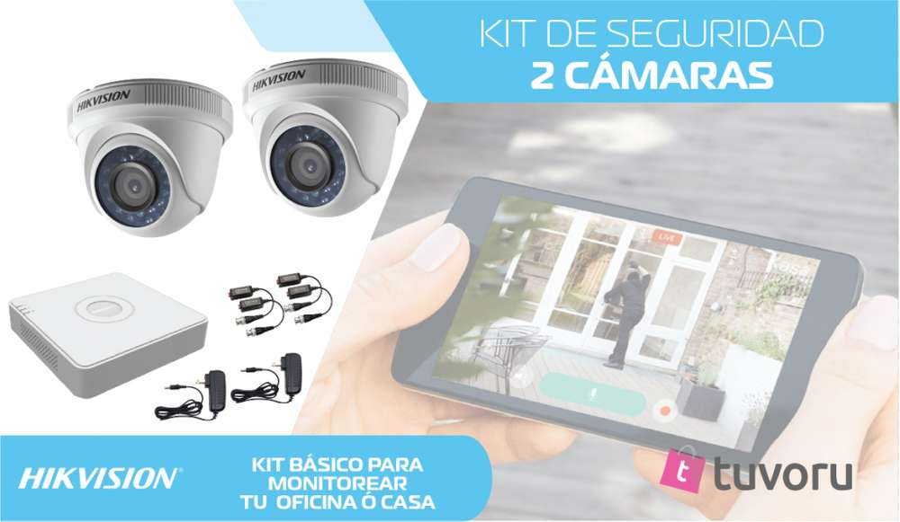 KIT de 2 camaras de seguridad HD 720p monitoreate tu mismo