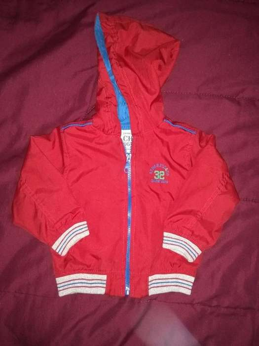 Campera Bb Impermeable T 12 Meses